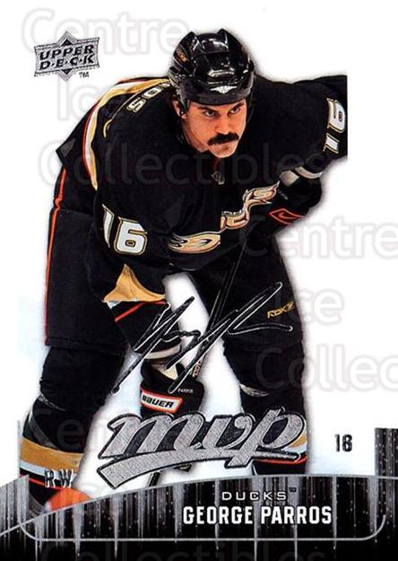 2009-10 Upper Deck MVP #293 George Parros<br/>5 In Stock - $1.00 each - <a href=https://centericecollectibles.foxycart.com/cart?name=2009-10%20Upper%20Deck%20MVP%20%23293%20George%20Parros...&quantity_max=5&price=$1.00&code=293790 class=foxycart> Buy it now! </a>