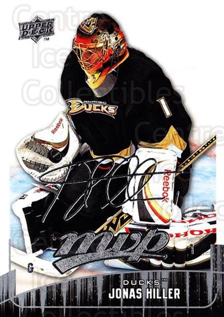 2009-10 Upper Deck MVP #294 Jonas Hiller<br/>4 In Stock - $1.00 each - <a href=https://centericecollectibles.foxycart.com/cart?name=2009-10%20Upper%20Deck%20MVP%20%23294%20Jonas%20Hiller...&quantity_max=4&price=$1.00&code=293791 class=foxycart> Buy it now! </a>