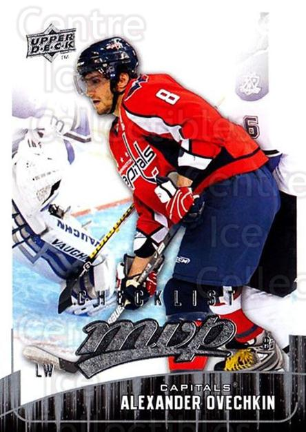 2009-10 Upper Deck MVP #298 Alexander Ovechkin, Checklist<br/>4 In Stock - $2.00 each - <a href=https://centericecollectibles.foxycart.com/cart?name=2009-10%20Upper%20Deck%20MVP%20%23298%20Alexander%20Ovech...&quantity_max=4&price=$2.00&code=293795 class=foxycart> Buy it now! </a>