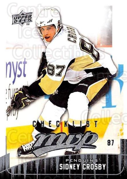 2009-10 Upper Deck MVP #300 Sidney Crosby, Checklist<br/>3 In Stock - $2.00 each - <a href=https://centericecollectibles.foxycart.com/cart?name=2009-10%20Upper%20Deck%20MVP%20%23300%20Sidney%20Crosby,%20...&price=$2.00&code=293797 class=foxycart> Buy it now! </a>