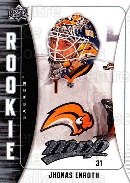 2009-10 Upper Deck MVP #315 Jhonas Enroth<br/>3 In Stock - $2.00 each - <a href=https://centericecollectibles.foxycart.com/cart?name=2009-10%20Upper%20Deck%20MVP%20%23315%20Jhonas%20Enroth...&quantity_max=3&price=$2.00&code=293812 class=foxycart> Buy it now! </a>