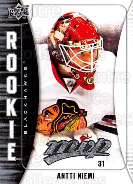 2009-10 Upper Deck MVP #340 Antti Niemi<br/>1 In Stock - $2.00 each - <a href=https://centericecollectibles.foxycart.com/cart?name=2009-10%20Upper%20Deck%20MVP%20%23340%20Antti%20Niemi...&quantity_max=1&price=$2.00&code=293837 class=foxycart> Buy it now! </a>
