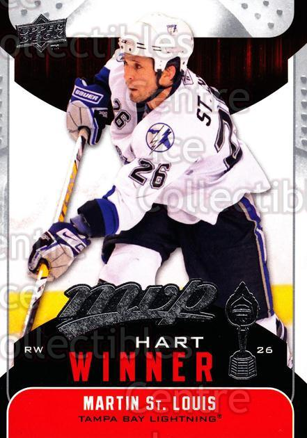 2009-10 Upper Deck MVP Hart Winners #4 Martin St. Louis<br/>5 In Stock - $2.00 each - <a href=https://centericecollectibles.foxycart.com/cart?name=2009-10%20Upper%20Deck%20MVP%20Hart%20Winners%20%234%20Martin%20St.%20Loui...&quantity_max=5&price=$2.00&code=293895 class=foxycart> Buy it now! </a>
