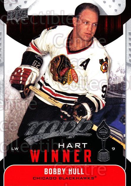 2009-10 Upper Deck MVP Hart Winners #6 Bobby Hull<br/>1 In Stock - $2.00 each - <a href=https://centericecollectibles.foxycart.com/cart?name=2009-10%20Upper%20Deck%20MVP%20Hart%20Winners%20%236%20Bobby%20Hull...&price=$2.00&code=293897 class=foxycart> Buy it now! </a>