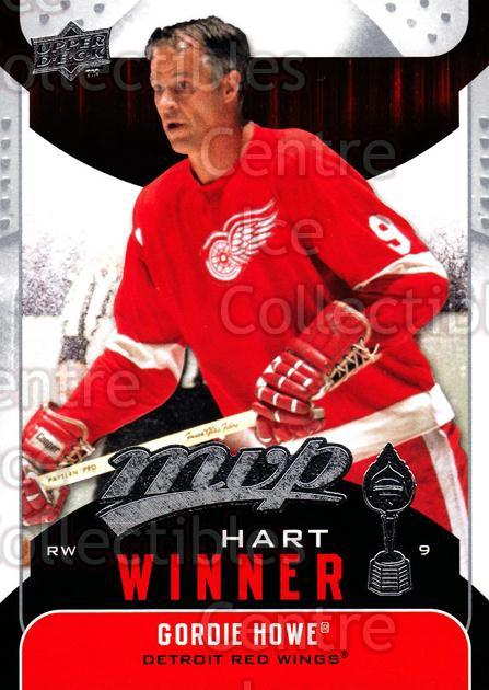 2009-10 Upper Deck MVP Hart Winners #7 Gordie Howe<br/>2 In Stock - $2.00 each - <a href=https://centericecollectibles.foxycart.com/cart?name=2009-10%20Upper%20Deck%20MVP%20Hart%20Winners%20%237%20Gordie%20Howe...&price=$2.00&code=293898 class=foxycart> Buy it now! </a>