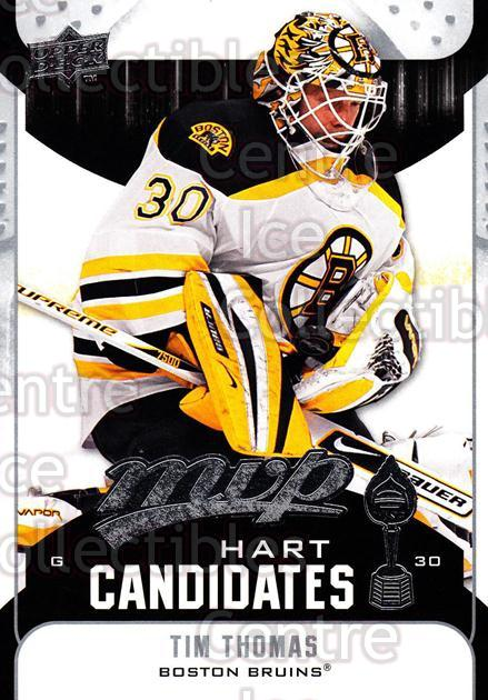 2009-10 Upper Deck MVP Hart Candidates #1 Tim Thomas<br/>4 In Stock - $2.00 each - <a href=https://centericecollectibles.foxycart.com/cart?name=2009-10%20Upper%20Deck%20MVP%20Hart%20Candidates%20%231%20Tim%20Thomas...&quantity_max=4&price=$2.00&code=293902 class=foxycart> Buy it now! </a>