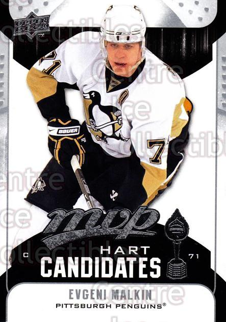 2009-10 Upper Deck MVP Hart Candidates #4 Evgeni Malkin<br/>5 In Stock - $2.00 each - <a href=https://centericecollectibles.foxycart.com/cart?name=2009-10%20Upper%20Deck%20MVP%20Hart%20Candidates%20%234%20Evgeni%20Malkin...&quantity_max=5&price=$2.00&code=293905 class=foxycart> Buy it now! </a>