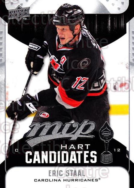 2009-10 Upper Deck MVP Hart Candidates #6 Eric Staal<br/>5 In Stock - $2.00 each - <a href=https://centericecollectibles.foxycart.com/cart?name=2009-10%20Upper%20Deck%20MVP%20Hart%20Candidates%20%236%20Eric%20Staal...&quantity_max=5&price=$2.00&code=293907 class=foxycart> Buy it now! </a>