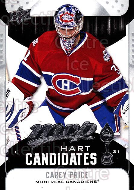 2009-10 Upper Deck MVP Hart Candidates #8 Carey Price<br/>1 In Stock - $2.00 each - <a href=https://centericecollectibles.foxycart.com/cart?name=2009-10%20Upper%20Deck%20MVP%20Hart%20Candidates%20%238%20Carey%20Price...&price=$2.00&code=293909 class=foxycart> Buy it now! </a>