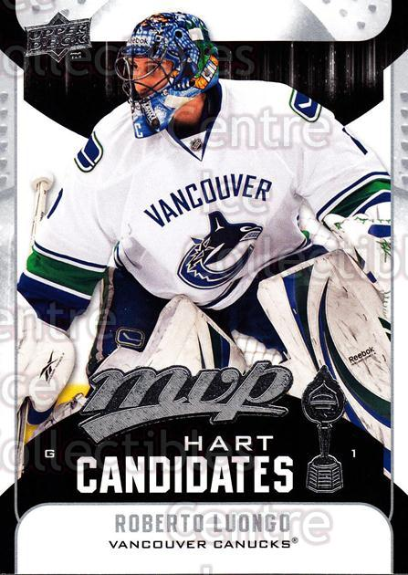 2009-10 Upper Deck MVP Hart Candidates #18 Roberto Luongo<br/>6 In Stock - $2.00 each - <a href=https://centericecollectibles.foxycart.com/cart?name=2009-10%20Upper%20Deck%20MVP%20Hart%20Candidates%20%2318%20Roberto%20Luongo...&quantity_max=6&price=$2.00&code=293919 class=foxycart> Buy it now! </a>