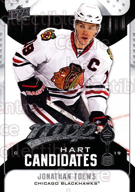 2009-10 Upper Deck MVP Hart Candidates #19 Jonathan Toews<br/>4 In Stock - $2.00 each - <a href=https://centericecollectibles.foxycart.com/cart?name=2009-10%20Upper%20Deck%20MVP%20Hart%20Candidates%20%2319%20Jonathan%20Toews...&quantity_max=4&price=$2.00&code=293920 class=foxycart> Buy it now! </a>