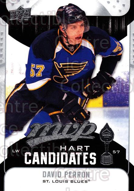 2009-10 Upper Deck MVP Hart Candidates #21 David Perron<br/>7 In Stock - $2.00 each - <a href=https://centericecollectibles.foxycart.com/cart?name=2009-10%20Upper%20Deck%20MVP%20Hart%20Candidates%20%2321%20David%20Perron...&quantity_max=7&price=$2.00&code=293922 class=foxycart> Buy it now! </a>