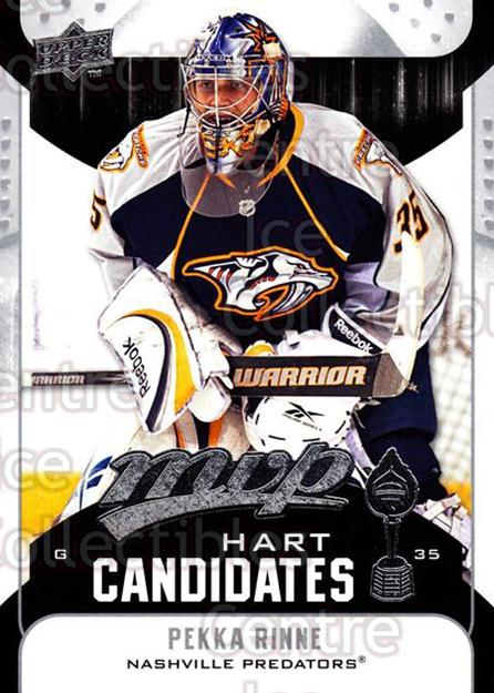 2009-10 Upper Deck MVP Hart Candidates #25 Pekka Rinne<br/>4 In Stock - $2.00 each - <a href=https://centericecollectibles.foxycart.com/cart?name=2009-10%20Upper%20Deck%20MVP%20Hart%20Candidates%20%2325%20Pekka%20Rinne...&quantity_max=4&price=$2.00&code=293926 class=foxycart> Buy it now! </a>