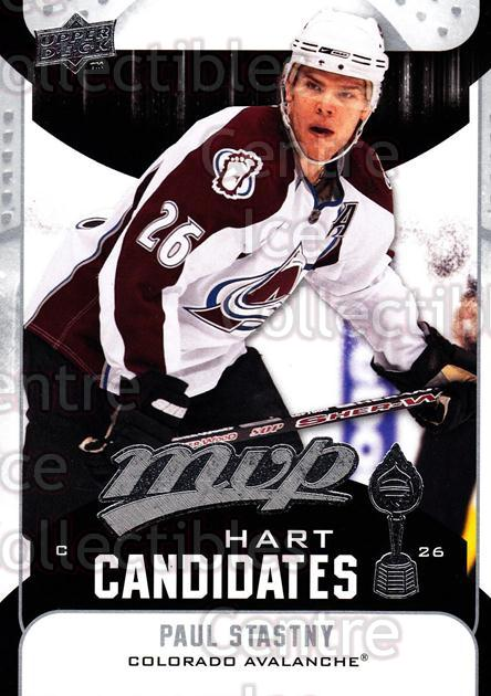 2009-10 Upper Deck MVP Hart Candidates #30 Paul Stastny<br/>5 In Stock - $2.00 each - <a href=https://centericecollectibles.foxycart.com/cart?name=2009-10%20Upper%20Deck%20MVP%20Hart%20Candidates%20%2330%20Paul%20Stastny...&quantity_max=5&price=$2.00&code=293931 class=foxycart> Buy it now! </a>