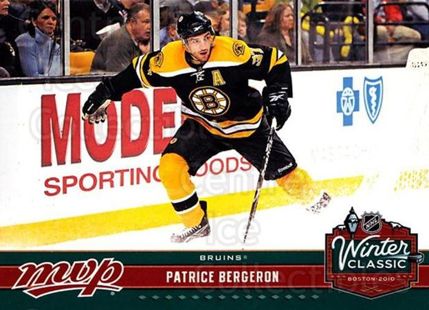 2009-10 Upper Deck MVP Winter Classic #18 Patrice Bergeron<br/>11 In Stock - $2.00 each - <a href=https://centericecollectibles.foxycart.com/cart?name=2009-10%20Upper%20Deck%20MVP%20Winter%20Classic%20%2318%20Patrice%20Bergero...&quantity_max=11&price=$2.00&code=293949 class=foxycart> Buy it now! </a>