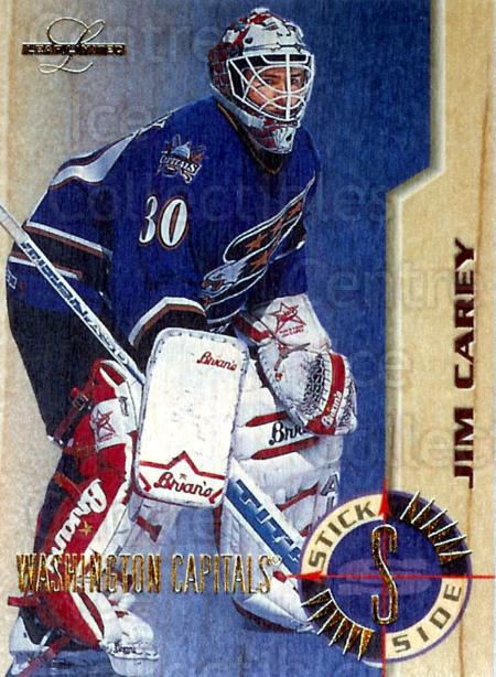 1995-96 Leaf Limited Stick Side #1 Jim Carey<br/>1 In Stock - $10.00 each - <a href=https://centericecollectibles.foxycart.com/cart?name=1995-96%20Leaf%20Limited%20Stick%20Side%20%231%20Jim%20Carey...&price=$10.00&code=294521 class=foxycart> Buy it now! </a>