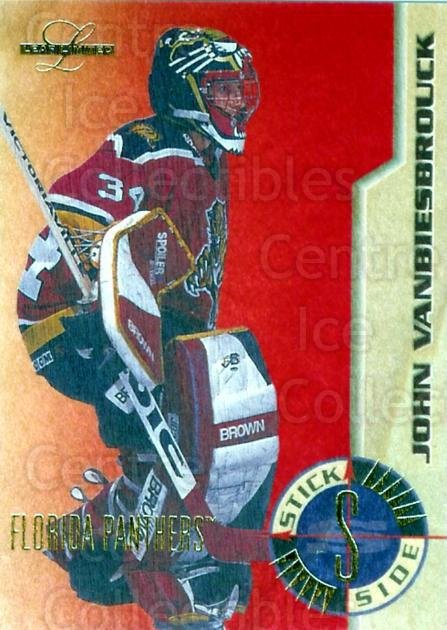 1995-96 Leaf Limited Stick Side #6 John Vanbiesbrouck<br/>2 In Stock - $10.00 each - <a href=https://centericecollectibles.foxycart.com/cart?name=1995-96%20Leaf%20Limited%20Stick%20Side%20%236%20John%20Vanbiesbro...&price=$10.00&code=294526 class=foxycart> Buy it now! </a>