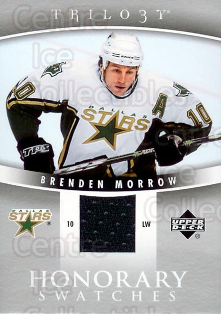 2006-07 UD Trilogy Honorary Swatches #HSBM Brenden Morrow<br/>1 In Stock - $5.00 each - <a href=https://centericecollectibles.foxycart.com/cart?name=2006-07%20UD%20Trilogy%20Honorary%20Swatches%20%23HSBM%20Brenden%20Morrow...&quantity_max=1&price=$5.00&code=294575 class=foxycart> Buy it now! </a>