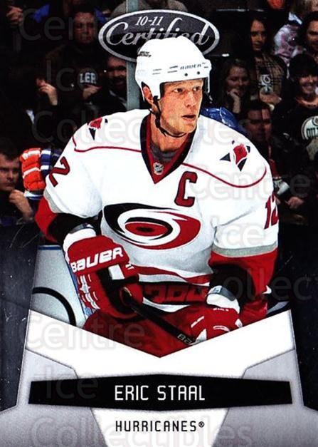 2010-11 Certified #27 Eric Staal<br/>3 In Stock - $1.00 each - <a href=https://centericecollectibles.foxycart.com/cart?name=2010-11%20Certified%20%2327%20Eric%20Staal...&quantity_max=3&price=$1.00&code=294631 class=foxycart> Buy it now! </a>