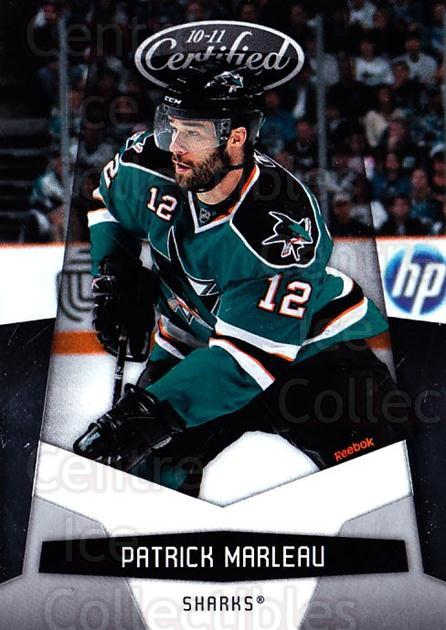 2010-11 Certified #123 Patrick Marleau<br/>4 In Stock - $1.00 each - <a href=https://centericecollectibles.foxycart.com/cart?name=2010-11%20Certified%20%23123%20Patrick%20Marleau...&quantity_max=4&price=$1.00&code=294727 class=foxycart> Buy it now! </a>