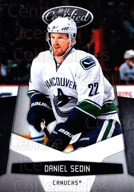 2010-11 Certified #140 Daniel Sedin<br/>4 In Stock - $1.00 each - <a href=https://centericecollectibles.foxycart.com/cart?name=2010-11%20Certified%20%23140%20Daniel%20Sedin...&price=$1.00&code=294744 class=foxycart> Buy it now! </a>