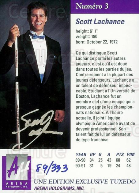 1991 Arena Draft Picks French Autographs #3 Scott Lachance<br/>1 In Stock - $5.00 each - <a href=https://centericecollectibles.foxycart.com/cart?name=1991%20Arena%20Draft%20Picks%20French%20Autographs%20%233%20Scott%20Lachance...&price=$5.00&code=294913 class=foxycart> Buy it now! </a>