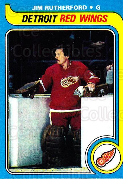 1979-80 Topps #122 Jim Rutherford<br/>4 In Stock - $1.00 each - <a href=https://centericecollectibles.foxycart.com/cart?name=1979-80%20Topps%20%23122%20Jim%20Rutherford...&quantity_max=4&price=$1.00&code=29543 class=foxycart> Buy it now! </a>