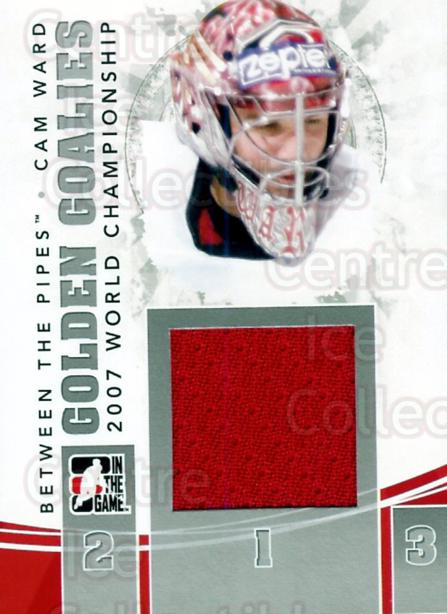 2010-11 Between The Pipes Golden Goalies Jersey Silver #20 Cam Ward<br/>1 In Stock - $10.00 each - <a href=https://centericecollectibles.foxycart.com/cart?name=2010-11%20Between%20The%20Pipes%20Golden%20Goalies%20Jersey%20Silver%20%2320%20Cam%20Ward...&price=$10.00&code=295956 class=foxycart> Buy it now! </a>