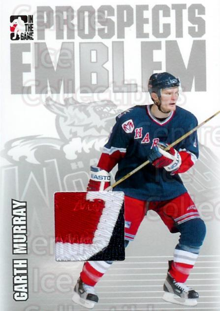 2004-05 ITG Heroes and Prospects Emblem #27 Garth Murray<br/>1 In Stock - $10.00 each - <a href=https://centericecollectibles.foxycart.com/cart?name=2004-05%20ITG%20Heroes%20and%20Prospects%20Emblem%20%2327%20Garth%20Murray...&quantity_max=1&price=$10.00&code=295959 class=foxycart> Buy it now! </a>