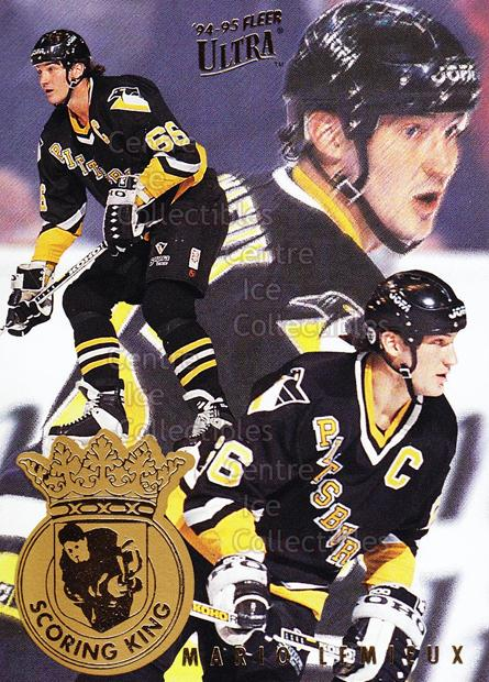 1994-95 Ultra Scoring Kings #5 Mario Lemieux<br/>11 In Stock - $3.00 each - <a href=https://centericecollectibles.foxycart.com/cart?name=1994-95%20Ultra%20Scoring%20Kings%20%235%20Mario%20Lemieux...&quantity_max=11&price=$3.00&code=295995 class=foxycart> Buy it now! </a>