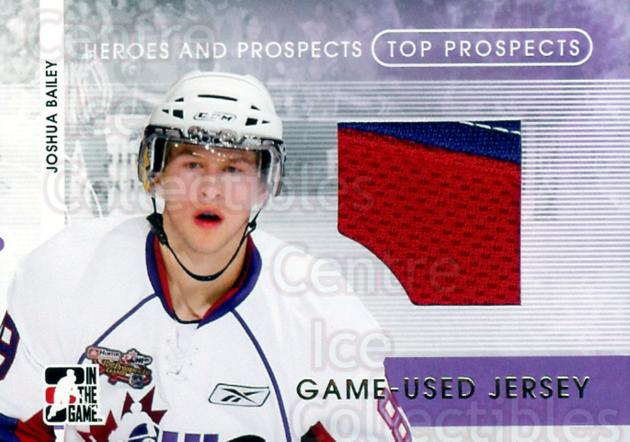 2008-09 ITG Heroes and Prospects Top Prospects Jersey Gold #14 Joshua Bailey<br/>1 In Stock - $20.00 each - <a href=https://centericecollectibles.foxycart.com/cart?name=2008-09%20ITG%20Heroes%20and%20Prospects%20Top%20Prospects%20Jersey%20Gold%20%2314%20Joshua%20Bailey...&quantity_max=1&price=$20.00&code=296323 class=foxycart> Buy it now! </a>
