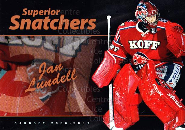 2006-07 Finnish Cardset Superior Snatchers #5 Jan Lundell<br/>7 In Stock - $3.00 each - <a href=https://centericecollectibles.foxycart.com/cart?name=2006-07%20Finnish%20Cardset%20Superior%20Snatchers%20%235%20Jan%20Lundell...&quantity_max=7&price=$3.00&code=296344 class=foxycart> Buy it now! </a>