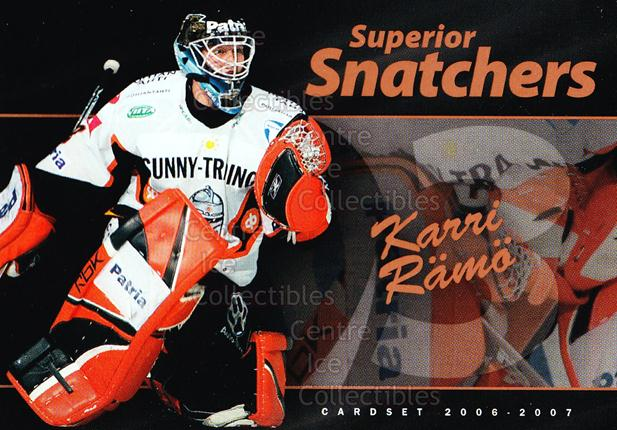 2006-07 Finnish Cardset Superior Snatchers #9 Karri Ramo<br/>5 In Stock - $3.00 each - <a href=https://centericecollectibles.foxycart.com/cart?name=2006-07%20Finnish%20Cardset%20Superior%20Snatchers%20%239%20Karri%20Ramo...&quantity_max=5&price=$3.00&code=296348 class=foxycart> Buy it now! </a>