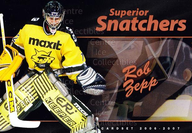 2006-07 Finnish Cardset Superior Snatchers #12 Rob Zepp<br/>5 In Stock - $3.00 each - <a href=https://centericecollectibles.foxycart.com/cart?name=2006-07%20Finnish%20Cardset%20Superior%20Snatchers%20%2312%20Rob%20Zepp...&quantity_max=5&price=$3.00&code=296351 class=foxycart> Buy it now! </a>