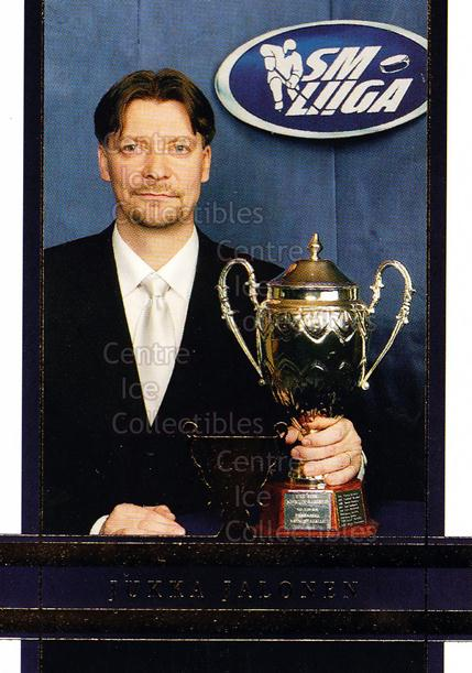 2006-07 Finnish Cardset Trophy Winners #1 Jukka Jalonen<br/>6 In Stock - $3.00 each - <a href=https://centericecollectibles.foxycart.com/cart?name=2006-07%20Finnish%20Cardset%20Trophy%20Winners%20%231%20Jukka%20Jalonen...&quantity_max=6&price=$3.00&code=296352 class=foxycart> Buy it now! </a>