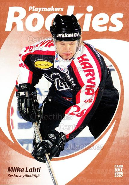 2006-07 Finnish Cardset Playmakers Rookies #10 Miika Lahti<br/>4 In Stock - $3.00 each - <a href=https://centericecollectibles.foxycart.com/cart?name=2006-07%20Finnish%20Cardset%20Playmakers%20Rookies%20%2310%20Miika%20Lahti...&quantity_max=4&price=$3.00&code=296368 class=foxycart> Buy it now! </a>