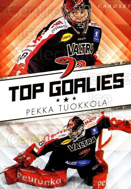 2010-11 Finnish Cardset Top Goalies Series One #3 Pekka Tuokkola<br/>2 In Stock - $3.00 each - <a href=https://centericecollectibles.foxycart.com/cart?name=2010-11%20Finnish%20Cardset%20Top%20Goalies%20Series%20One%20%233%20Pekka%20Tuokkola...&quantity_max=2&price=$3.00&code=296375 class=foxycart> Buy it now! </a>