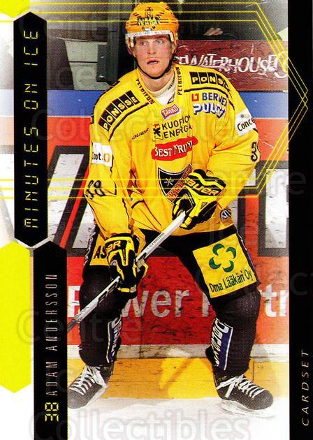 2010-11 Finnish Cardset Minutes On Ice #2 Adam Andersson<br/>3 In Stock - $3.00 each - <a href=https://centericecollectibles.foxycart.com/cart?name=2010-11%20Finnish%20Cardset%20Minutes%20On%20Ice%20%232%20Adam%20Andersson...&quantity_max=3&price=$3.00&code=296397 class=foxycart> Buy it now! </a>