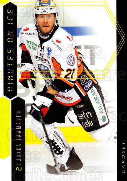 2010-11 Finnish Cardset Minutes On Ice #5 Jukka Laamanen<br/>3 In Stock - $3.00 each - <a href=https://centericecollectibles.foxycart.com/cart?name=2010-11%20Finnish%20Cardset%20Minutes%20On%20Ice%20%235%20Jukka%20Laamanen...&quantity_max=3&price=$3.00&code=296400 class=foxycart> Buy it now! </a>