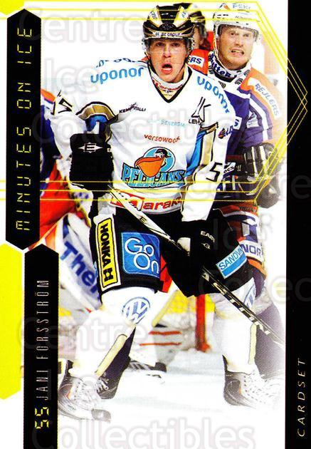 2010-11 Finnish Cardset Minutes On Ice #13 Jani Forsstrom<br/>3 In Stock - $3.00 each - <a href=https://centericecollectibles.foxycart.com/cart?name=2010-11%20Finnish%20Cardset%20Minutes%20On%20Ice%20%2313%20Jani%20Forsstrom...&quantity_max=3&price=$3.00&code=296408 class=foxycart> Buy it now! </a>