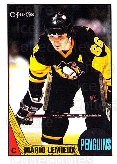 1987-88 O-Pee-Chee #15 Mario Lemieux<br/>1 In Stock - $20.00 each - <a href=https://centericecollectibles.foxycart.com/cart?name=1987-88%20O-Pee-Chee%20%2315%20Mario%20Lemieux...&quantity_max=1&price=$20.00&code=296469 class=foxycart> Buy it now! </a>