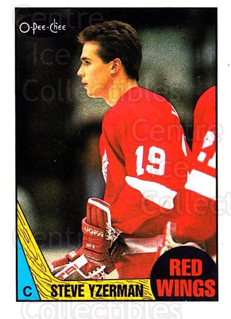 1987-88 O-Pee-Chee #56 Steve Yzerman<br/>1 In Stock - $5.00 each - <a href=https://centericecollectibles.foxycart.com/cart?name=1987-88%20O-Pee-Chee%20%2356%20Steve%20Yzerman...&price=$5.00&code=296472 class=foxycart> Buy it now! </a>