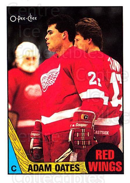 1987-88 O-Pee-Chee #123 Adam Oates<br/>1 In Stock - $10.00 each - <a href=https://centericecollectibles.foxycart.com/cart?name=1987-88%20O-Pee-Chee%20%23123%20Adam%20Oates...&price=$10.00&code=296473 class=foxycart> Buy it now! </a>