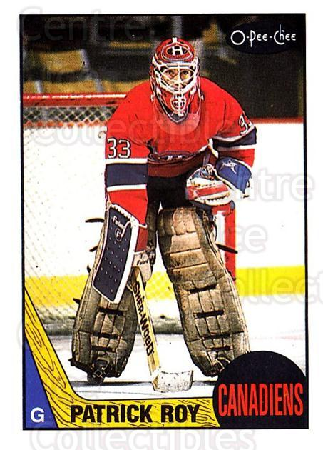 1987-88 O-Pee-Chee #163 Patrick Roy<br/>2 In Stock - $20.00 each - <a href=https://centericecollectibles.foxycart.com/cart?name=1987-88%20O-Pee-Chee%20%23163%20Patrick%20Roy...&price=$20.00&code=296474 class=foxycart> Buy it now! </a>