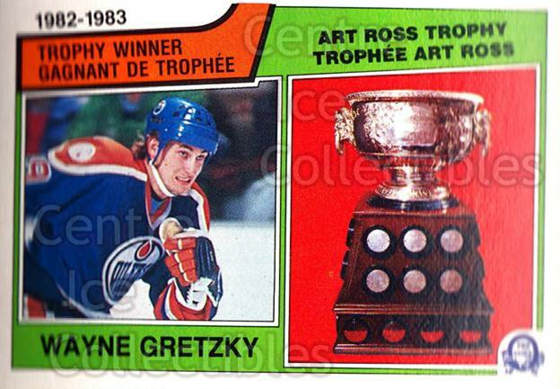 1983-84 O-Pee-Chee #204 Wayne Gretzky, Art Ross Trophy<br/>1 In Stock - $5.00 each - <a href=https://centericecollectibles.foxycart.com/cart?name=1983-84%20O-Pee-Chee%20%23204%20Wayne%20Gretzky,%20...&price=$5.00&code=296495 class=foxycart> Buy it now! </a>