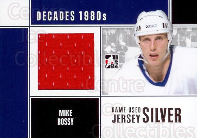 2010-11 ITG Decades 1980s Jersey Silver #43 Mike Bossy<br/>2 In Stock - $20.00 each - <a href=https://centericecollectibles.foxycart.com/cart?name=2010-11%20ITG%20Decades%201980s%20Jersey%20Silver%20%2343%20Mike%20Bossy...&price=$20.00&code=296505 class=foxycart> Buy it now! </a>