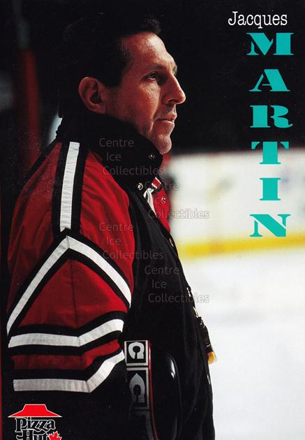 1996-97 Ottawa Senators Team Issue Pizza Hut #13 Jacques Martin<br/>6 In Stock - $3.00 each - <a href=https://centericecollectibles.foxycart.com/cart?name=1996-97%20Ottawa%20Senators%20Team%20Issue%20Pizza%20Hut%20%2313%20Jacques%20Martin...&quantity_max=6&price=$3.00&code=296551 class=foxycart> Buy it now! </a>