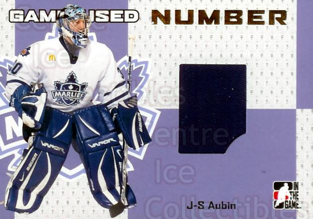 2006-07 ITG Heroes and Prospects Number Gold #53 Jean-Sebastien Aubin<br/>1 In Stock - $15.00 each - <a href=https://centericecollectibles.foxycart.com/cart?name=2006-07%20ITG%20Heroes%20and%20Prospects%20Number%20Gold%20%2353%20Jean-Sebastien%20...&quantity_max=1&price=$15.00&code=296624 class=foxycart> Buy it now! </a>