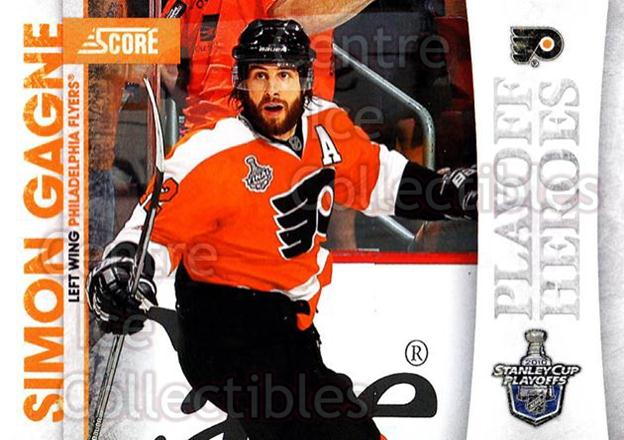 2010-11 Score Playoff Heroes #11 Simon Gagne<br/>4 In Stock - $2.00 each - <a href=https://centericecollectibles.foxycart.com/cart?name=2010-11%20Score%20Playoff%20Heroes%20%2311%20Simon%20Gagne...&quantity_max=4&price=$2.00&code=296734 class=foxycart> Buy it now! </a>