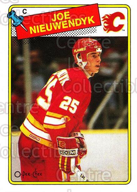 1988-89 O-Pee-Chee #16 Joe Nieuwendyk<br/>7 In Stock - $3.00 each - <a href=https://centericecollectibles.foxycart.com/cart?name=1988-89%20O-Pee-Chee%20%2316%20Joe%20Nieuwendyk...&price=$3.00&code=296750 class=foxycart> Buy it now! </a>